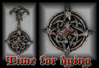 Time For Dying wall clock and decoration - Pagan Art Tuning Studio
